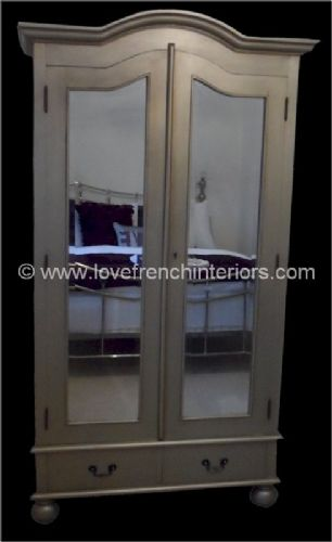 Rochelle Star French Mirrored Wardrobe in your choice of colour